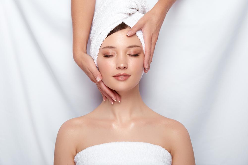 massaging skin
